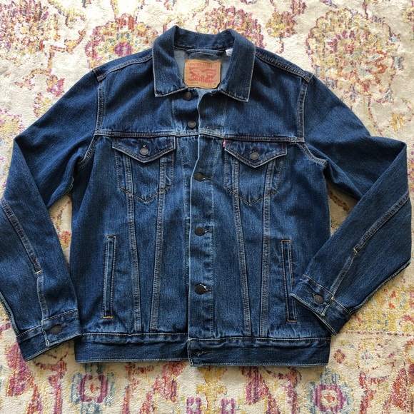 Mens Levi's Denim Jean Jacket Classic Wash